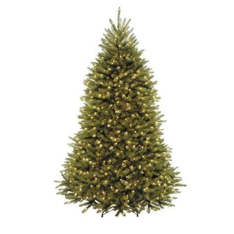 75 holiday time pre lit linden fir artificial christmas tree national tree company 7 5 ft dunhill fir artificial tree with clear lights duh3 75lo