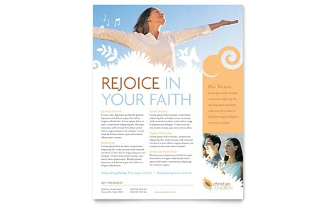 Christian Church Flyer Template Word Publisher Flyer Templates Microsoft