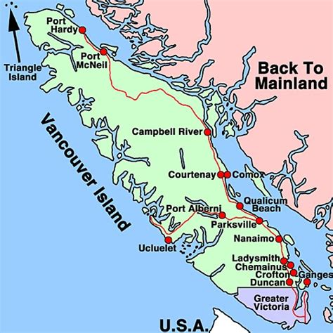 vancouver island canada map aerial photographs of cities and towns across canada