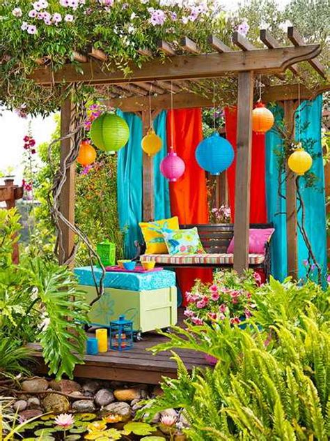 outdoor garden decor 20 diy outdoor curtains sunshades and canopy designs for