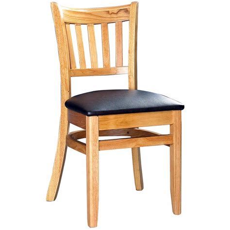 Restaurant Dining Chair Wood Vertical Slat Restaurant Dining Chair