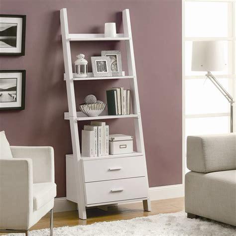 monarch specialties corner bookcase shop monarch specialties white composite 4 shelf bookcase