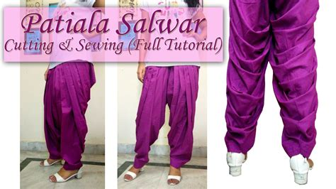 full patiala salwar cutting and stitching how to make patiala salwar cutting sewing full