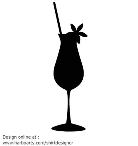 mixed drink clipart black and white glass silhouette vector clipart best