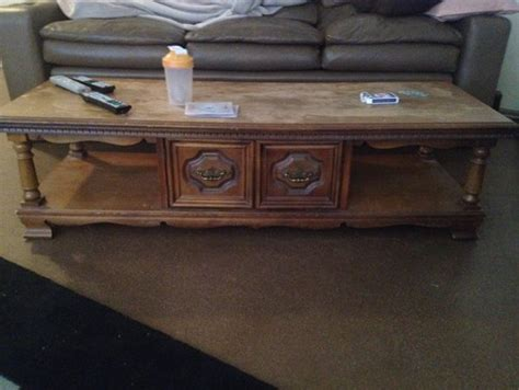 Help Refinish Coffee Table How To Refinish A Coffee Table Top