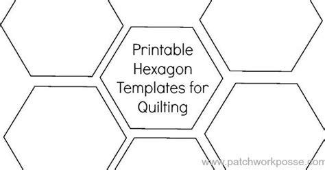 Printable Hexagon Template For Quilting Print Hexagons And Patterns Hexagon Website Template