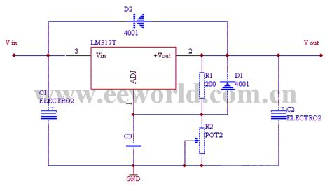 integrated circuit current regulator lm317 integrated regulator circuit power supply circuit circuit diagram seekic