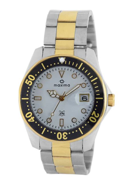 maxima silver date watches 36552cmgt for prices