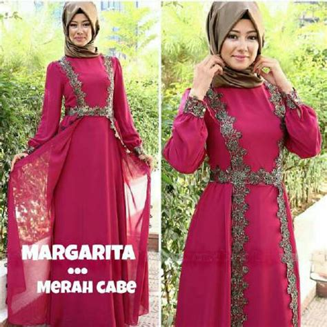 model baju gamis long dress muslim cantik modern terbaru ryn fashion