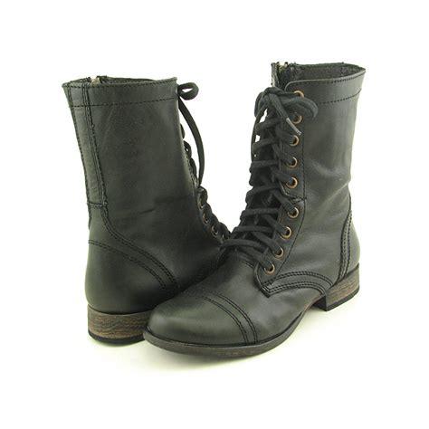 steve madden troopa black boots calf shoes womens sz 8 ebay