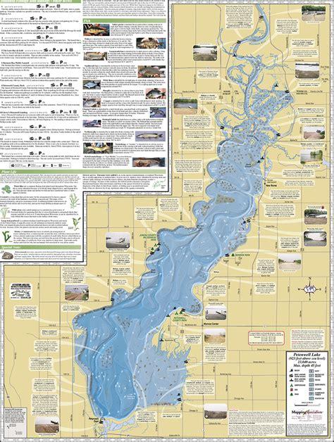 lake maps petenwell lake castle rock lake fold map