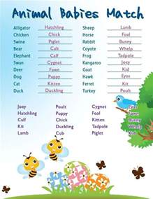 baby animal name baby shower the list of baby animal names baby shower