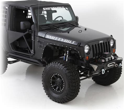 jeep fender flares jk smittybilt 76880 xrc armor front fenders for 07 18 jeep