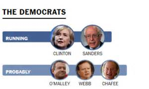 See there is more than one candidate running for the democratic