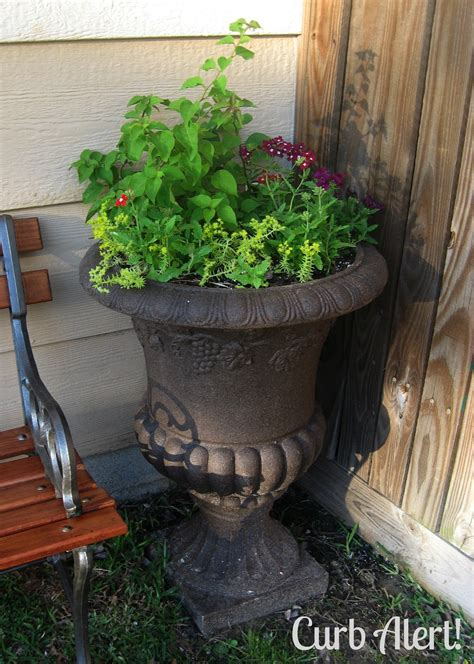 curb alert outdoor cement planter cement urn