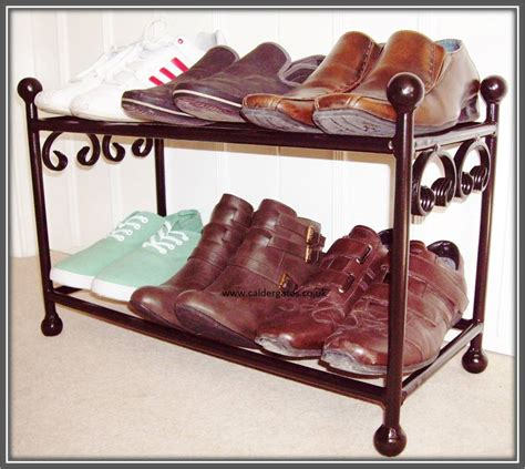 Handmade Shoe Rack - 6 pair wrought iron metal shoe rack organiser handmade