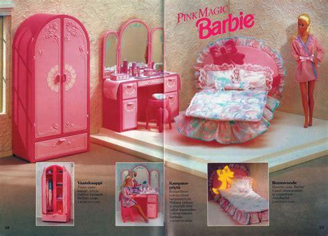 Pink Vanity Desk Barbie Journal 1992 Finnish Pink Magic Barbie
