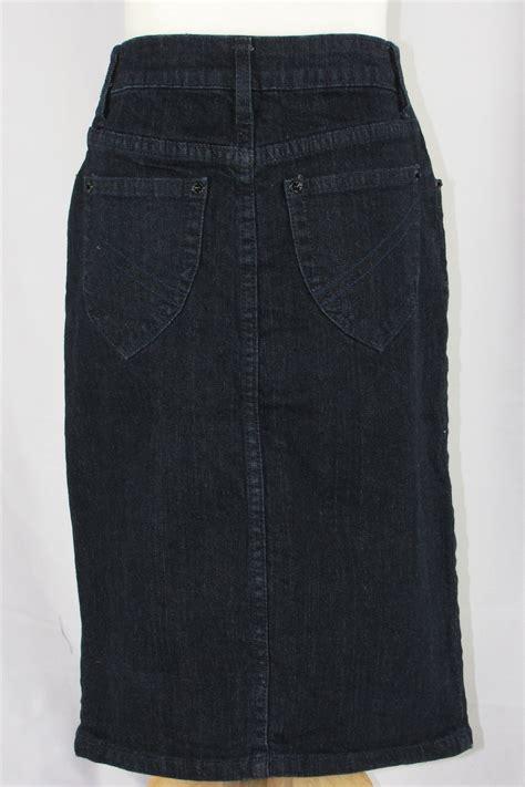 harvest calf length denim skirt sizes 2 14