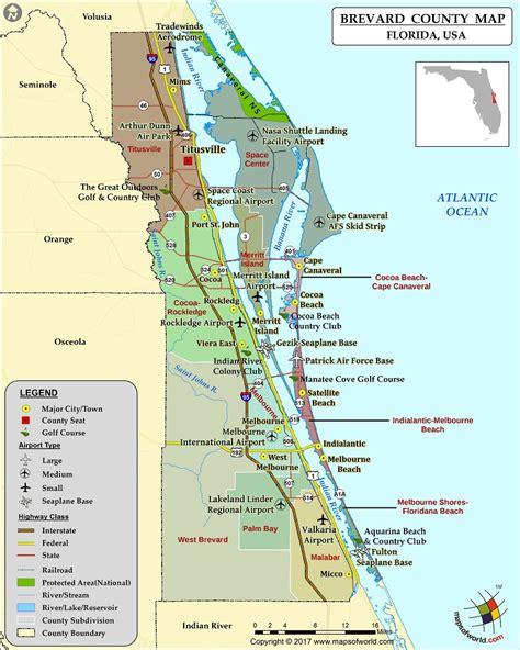 maps usa florida brevard county map florida