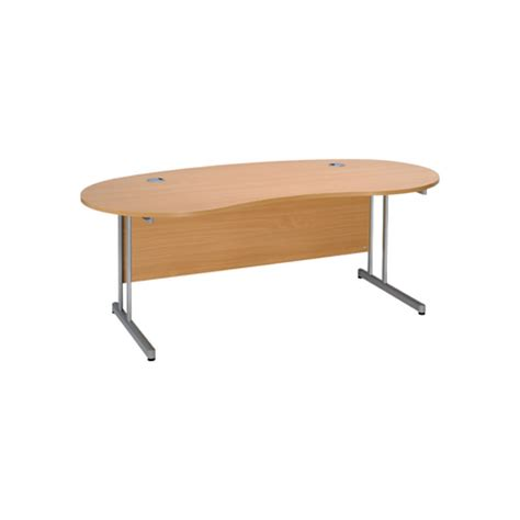 kidney shaped office desk kidney shaped desk with cantilever frame