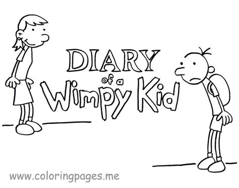 Diary Of A Wimpy Kid Coloring Page printable pictures of diary of a wimpy kid coloring pages for az coloring pages