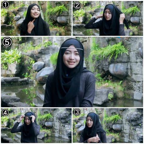 tutorial hijab syar i zaskia mecca tutorial hijab ala zaskia mecca 2
