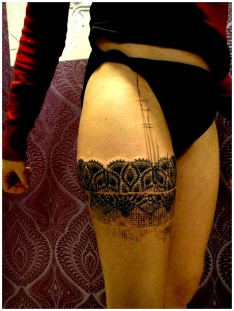 lace thigh tattoo 150 thigh tattoos that makes thighs