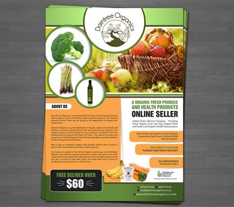 flyer design inspiration food upmarket elegant it company flyer design for a company