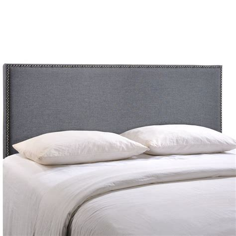 padded headboard queen region queen size nailhead upholstered headboard ebay