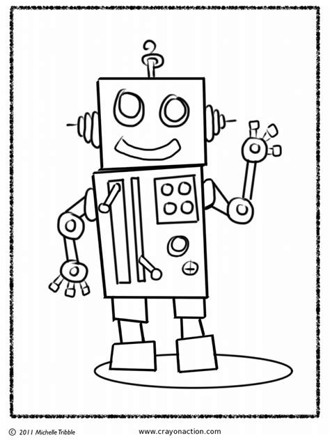 robot printable coloring pages