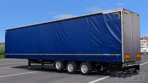 blue trailer kogel mega blue trailer ets 2 mods