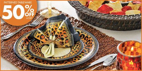 leopard decorations safari chic leopard print supplies city