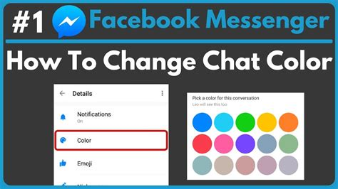 themes facebook chat messenger how to change chat color in facebook messenger youtube