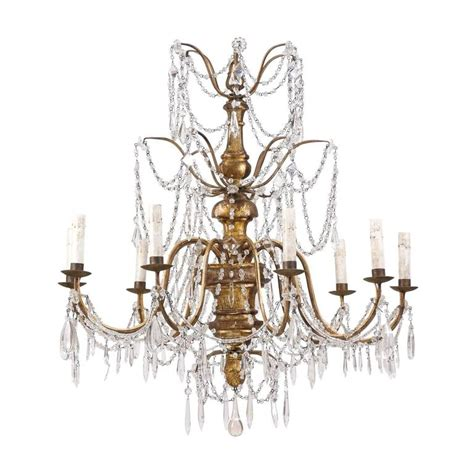 Pine Cone Chandelier Italian Giltwood Nine Light Chandelier With Pine Cone Finial For Sale At 1stdibs