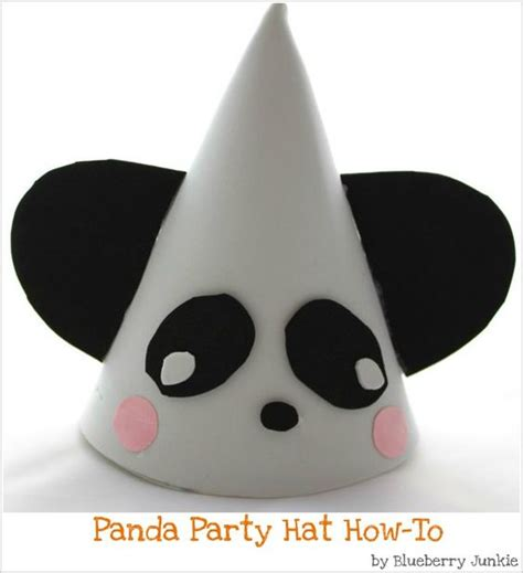 making themed hats panda party hat yes have to make a similar one for lilys