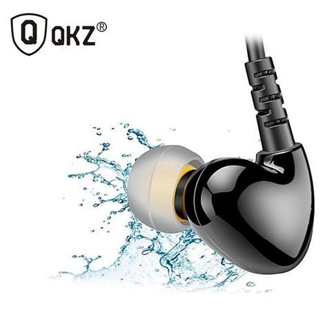 knowledge zenith sport runing bass in ear earphones with microphone qkz s3 black