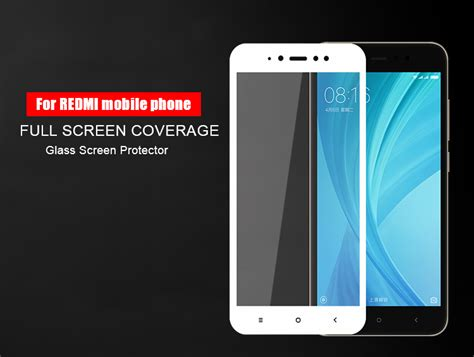 Redmi 5a Tempered Glass Color White Cover redmi note 5a cover protection tempered glass screen