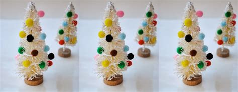 New Year Handmade Decoration - mini bottle brush tree ornaments handmade ornament no 5