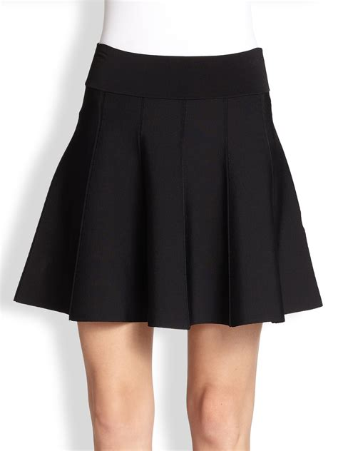 knit skirt a l c piper flared knit skirt in black lyst