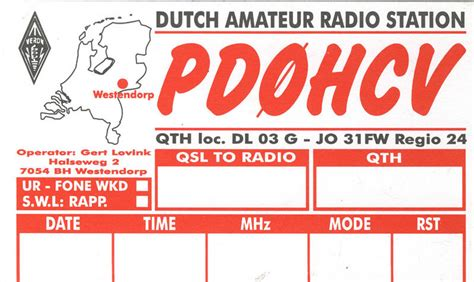 Netherlands Phone Number Lookup Pd0hcv Callsign Lookup By Qrz Ham Radio