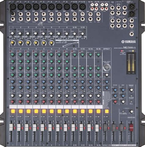 Mixer Yamaha 166cx Usb mixer yamaha mg 166 cx audionoleggio it