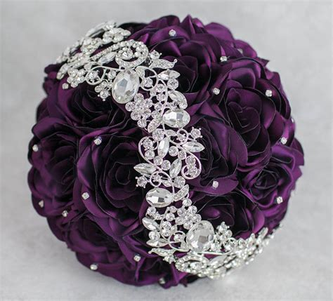 Purple Wedding Bouquets by Bridal Bouquet Brooch Bouquet Wedding Bouquet Purple Wedding