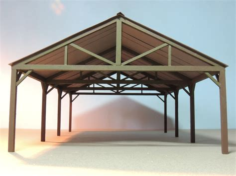 vision scale modeler open air shed house plans
