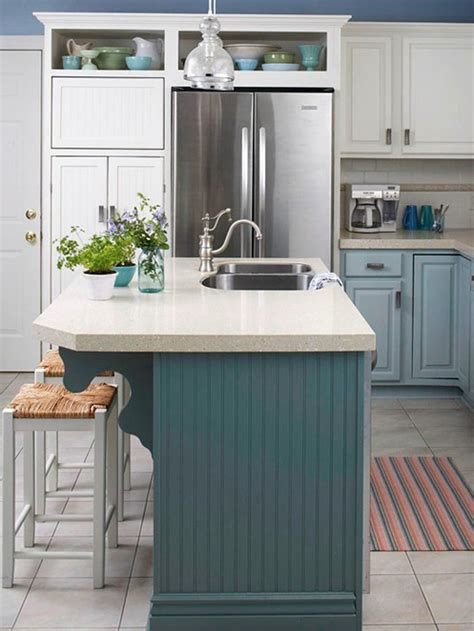 kitchens with different colored islands these 20 stylish kitchen island designs will have you