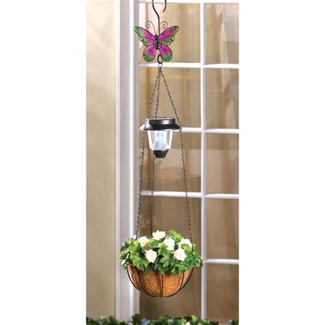 Wholesale Solar Butterfly Hanging Basket Buy Wholesale Buy Garden Decor
