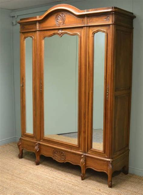 large armoires large french decorative walnut antique wardrobe armoire 220500 sellingantiques co uk