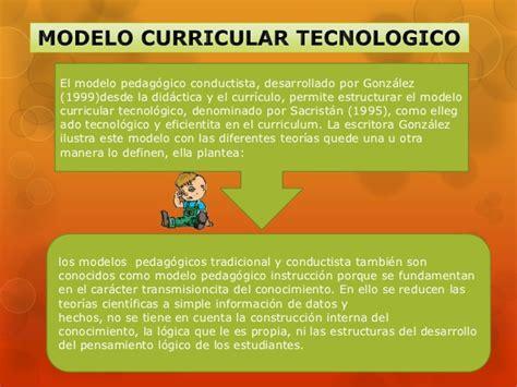 Modelo Curricular Tecnologico Modelos Pedagogico Curriculares Academicos