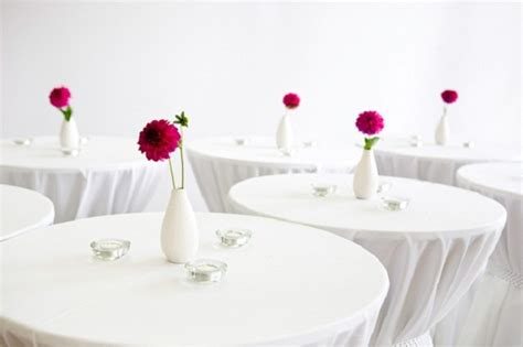 covering bistro and pub tables for weddings and special
