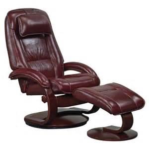 leather ergonomic recliner ottoman lounge chair adjustable