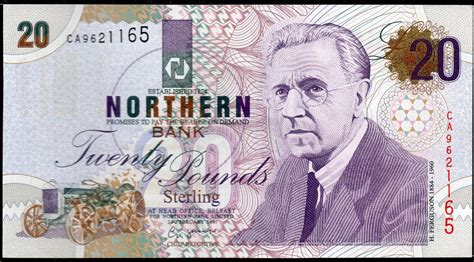 bank notes out of circulation northern bank ltd belfast 163 20 libras billete 1997 1999
